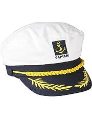 SGerste Béret de capitaine marin, béret blanc et ajustable pour amiral marin