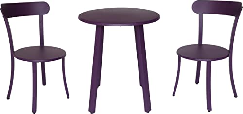 Christopher Knight Home 304957 Kelly Outdoor Bistro Set, Matte Purple