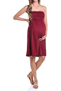 86ee036de685a Beachcoco Women's Maternity Comfortable Knee Length Tube Dress Made in USA