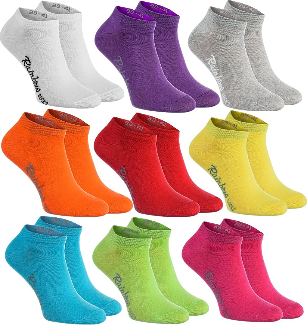 6,9 or 12 pairs of Colorful COTTON Socks Low Cut Short Casual for Mens /& Womens