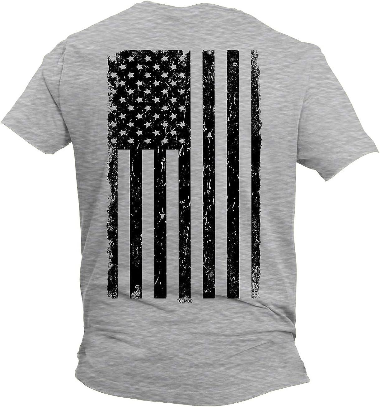 Distressed Black USA Flag - United States Unisex V-Neck T-Shirt