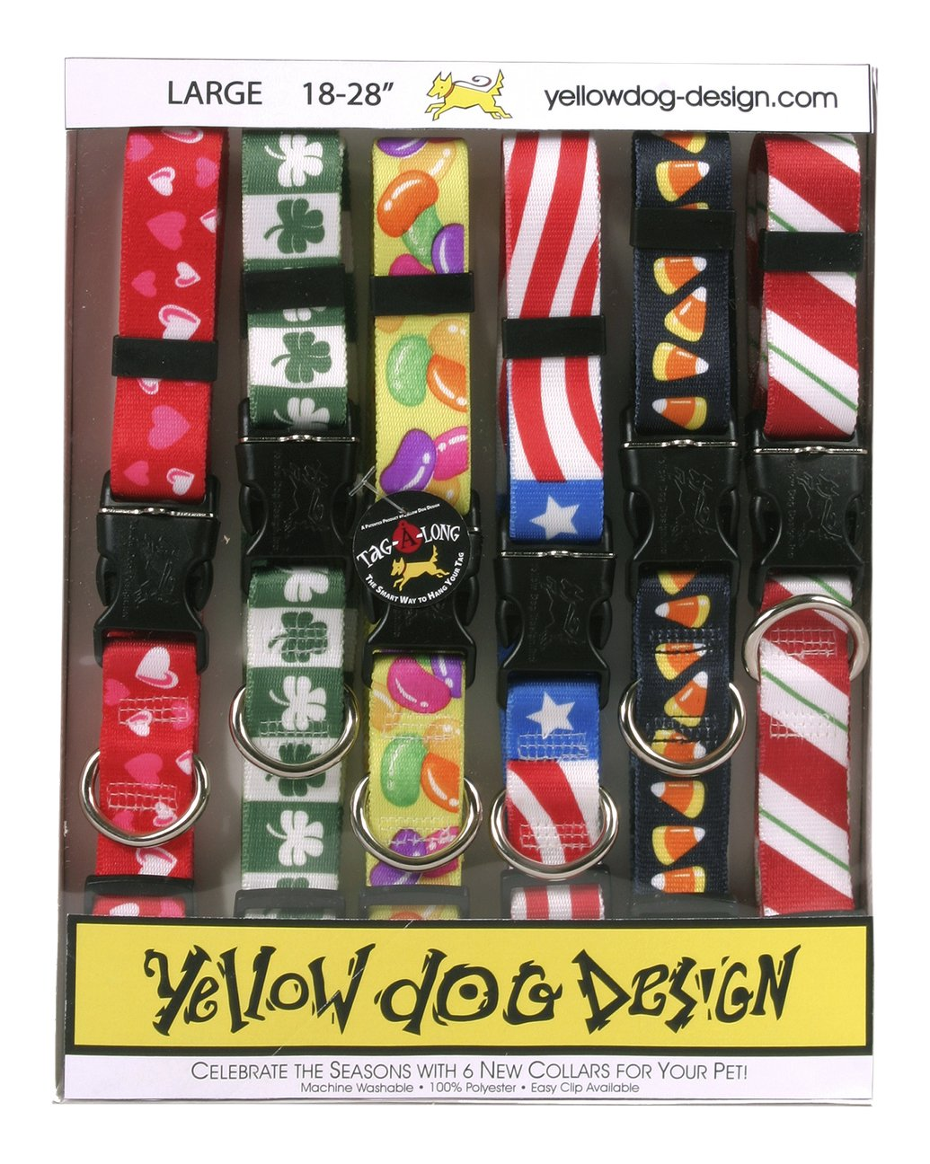 Yellow Dog Design Seasonal Dog Collar Calendar Pack with Tag-A-Long-Small-3/4 Wide and fits Neck 10 to 14''