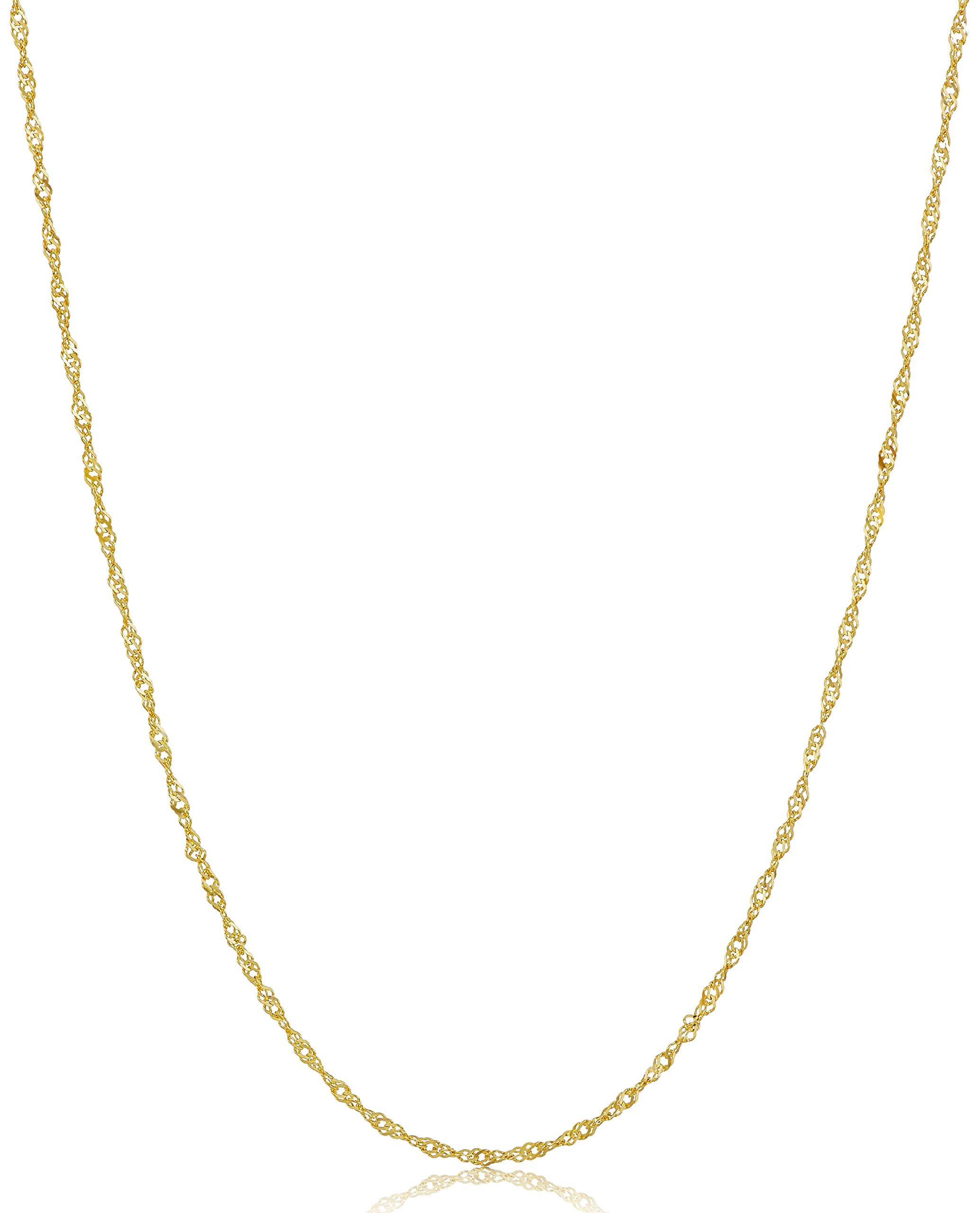 14k Yellow Gold Twist Curb Chain Necklace, 18''