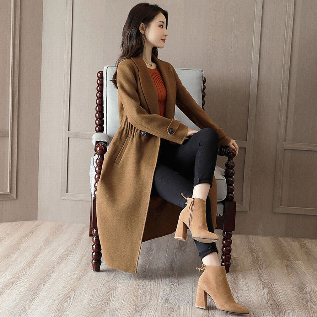 MIF Es Ist ein Langer Langer Langer Mantel Der Frauenkleidung Mantel Beiläufige Kleidung Beiläufige Größe Größenmanteljacke B077KXGM64 Bekleidung Internationale Wahl 66ba67