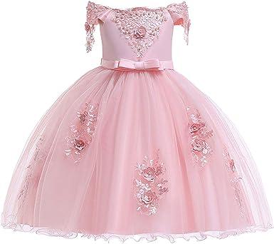 Baby Girls Custom Lace Ball Gown Flower Princess Party Birthday Tutu Dresses