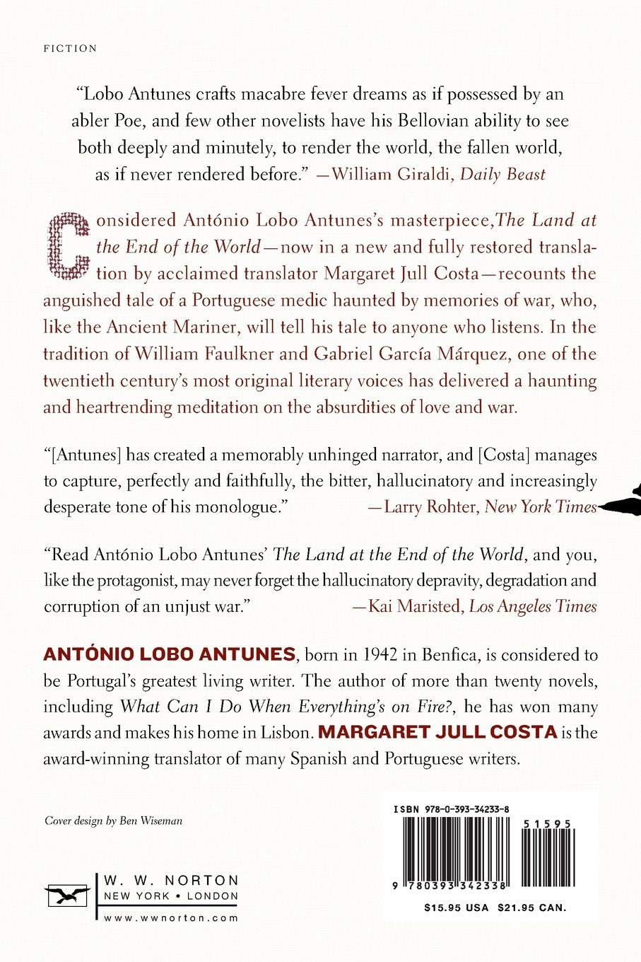 the land at the end of the world a novel antónio lobo antunes