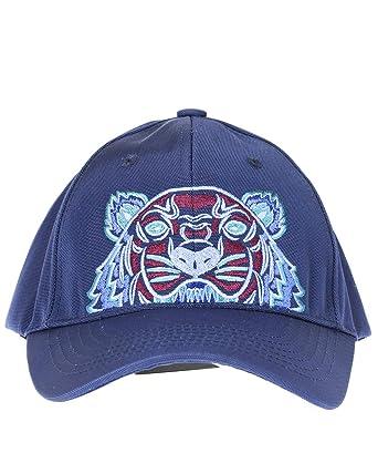 f9260709a Kenzo Unisex Tiger Baseball Cap, Blue & Burgundy Canvas Hat at ...