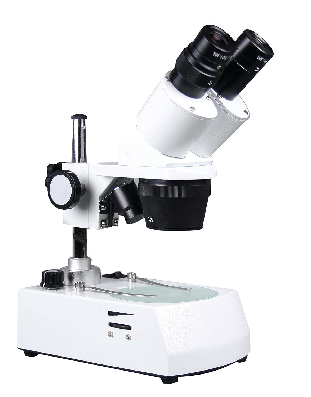 Radical 10x-20x 30x-60x Binocular Stereo Microscope w Top Bottom Pole Type Light Stand
