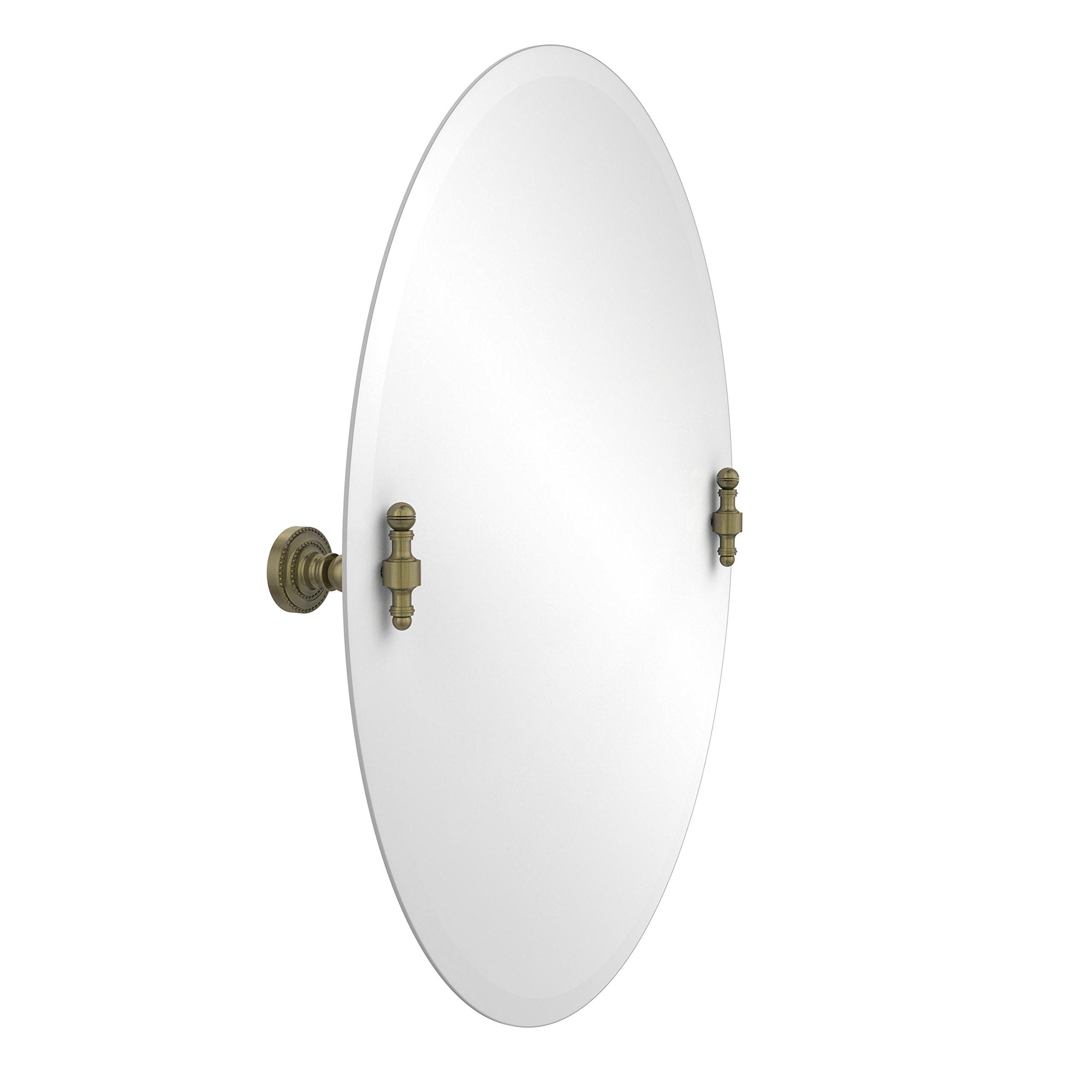 Allied Brass RD-91-ABR  21-Inchx29-Inch Oval Tilt Mirror, Antique Brass