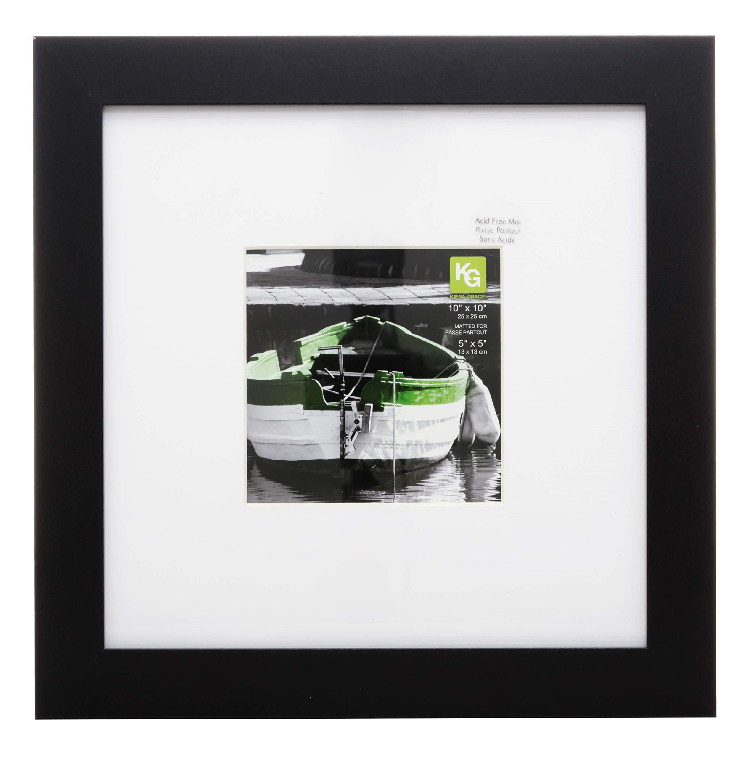 kieragrace Langford Wood Picture Frame, 10-Inch, 10 by 10, Black by kieragrace