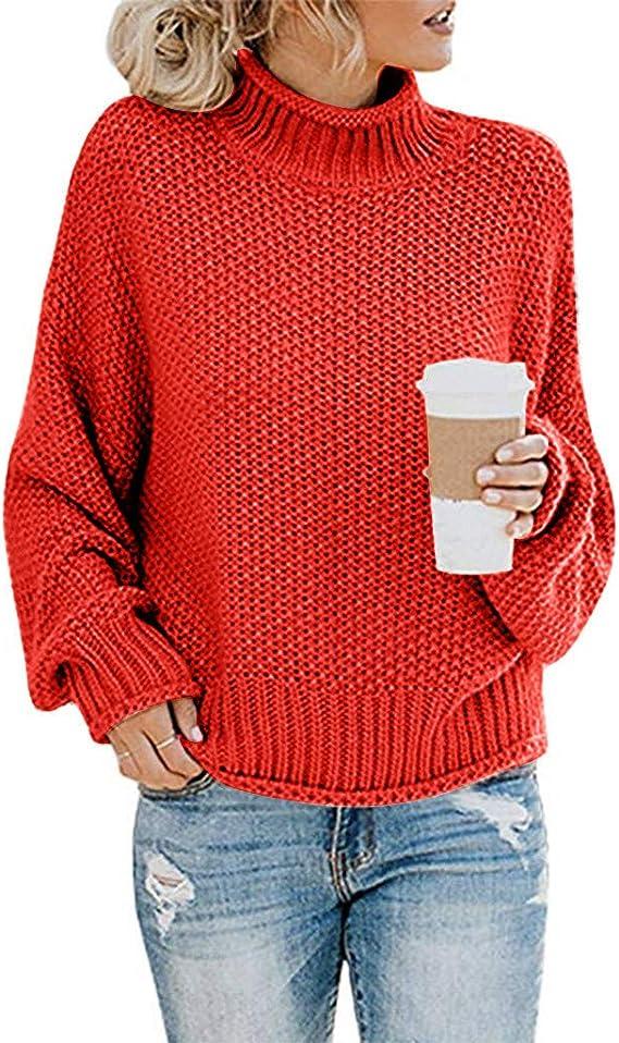DAMEN STRICKPULLOVER PULLOVER Sweatshirt Einfarbig Pulli