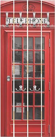Ganci cromati Dimensione: 100cm x 40cm Appendiabiti a Muro Appendiabiti da Muro Appendiabiti da Parete Appendiabiti Design Bilderwelten Appendiabiti in Legno Telephone Verticale
