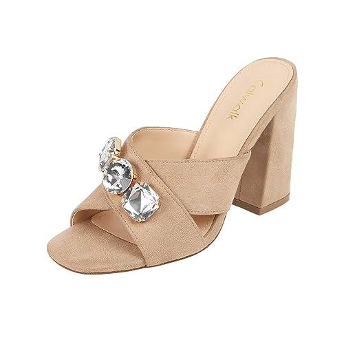 06b973951ec Catwalk Beige Block Heel Sandals  Buy Online at Low Prices in India -  Amazon.in