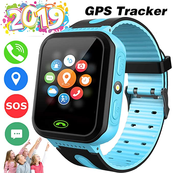 Kids Smart Watch Phone GPS Tracker for 3-14 Year Girls Boys Touch 2 Way Call Screen Fitness Tracker with Camera Anti-Lost SOS Game Electronic Learning ...