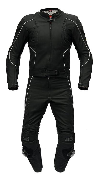 Traje de cuero de XLS, dos piezas de alta calidad en negro ...