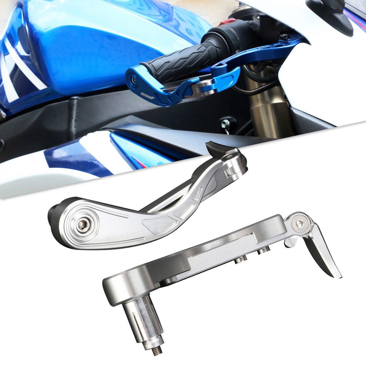 NOVSIGHT 7/8' 22mm Motorrad Hebelschü tzer Lenkerenden Handschü tzer Handguard Griffe Fü r Yamaha Suzuki Honda Triumph Kawasaki Blau - A Design