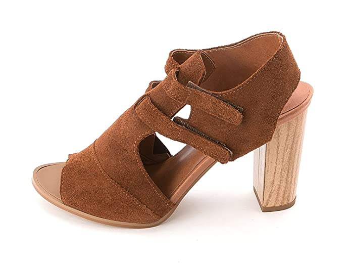 Klub Nico Womens Suede Open Toe Casual Brown Size 80