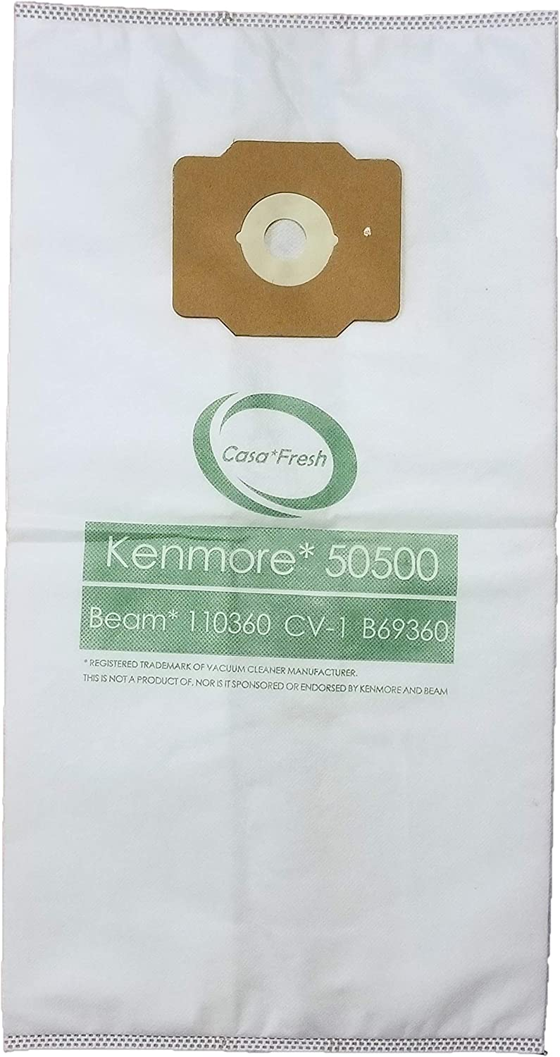 (3) 6 Gallon Allergy Central Vacuum Bags For Beam, Eureka, Electrolux, Star-Brute, Kenmore, Mastercraft, Frigidaire, Heatilator, Nutone, Aggresor, Astrovac, Husky, Star-Brute, Broam, Cyclovac, Dynavac