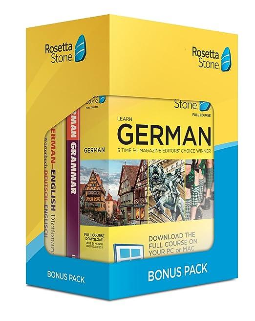 Rosetta Stone Learn German Bonus Pack (24 Month Subscription + Lifetime  Download + Book Set)
