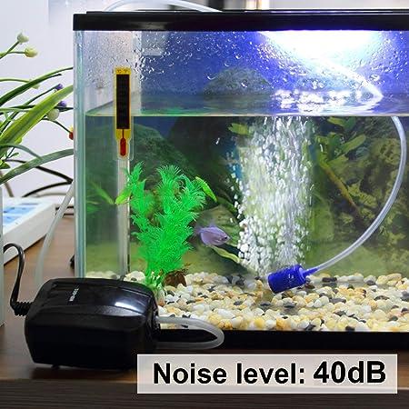TSSS - Bomba para acuario de 40 - 250 litros + manguera + set de piedras difusoras: Amazon.es: Productos para mascotas