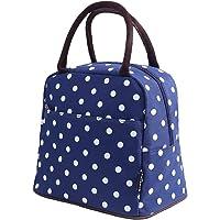 Bagbang Women's Soft Cooler Insulated Lunch Bag (Blue Dot)