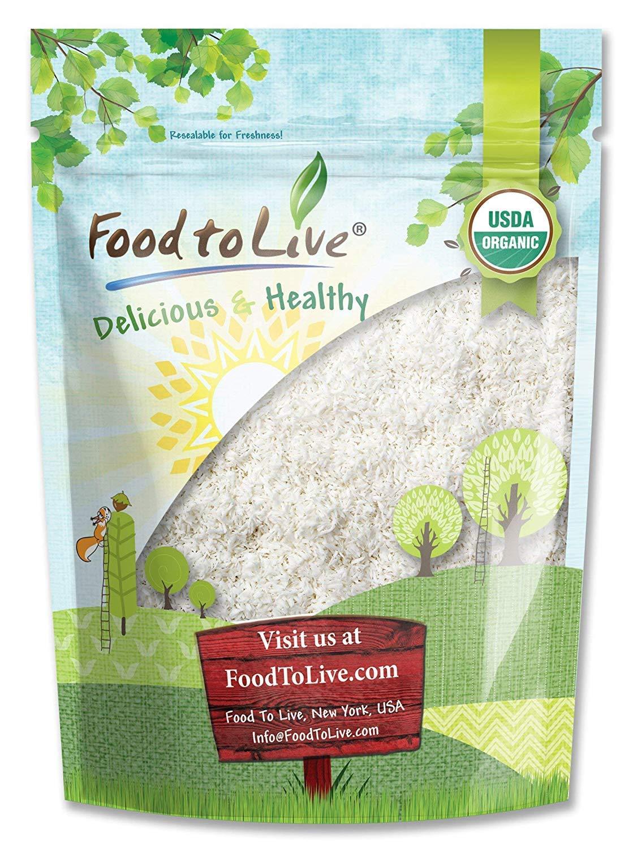 Organic Shredded Coconut, 2 Pounds - Desiccated, Unsweetened, Non-GMO, Kosher, Raw, Vegan, Bulk
