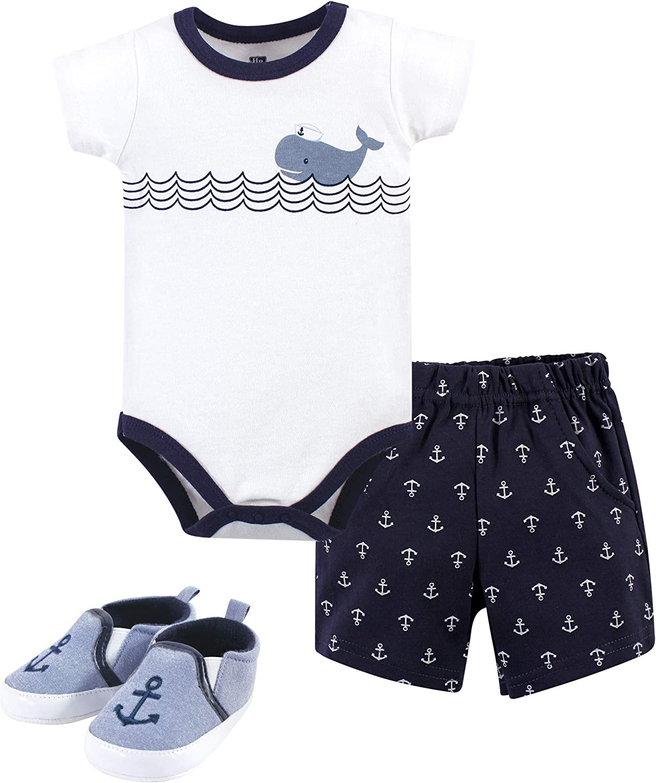 3-Piece Set Hudson Baby Girl Bodysuit Lemon Pants and Shoe Set