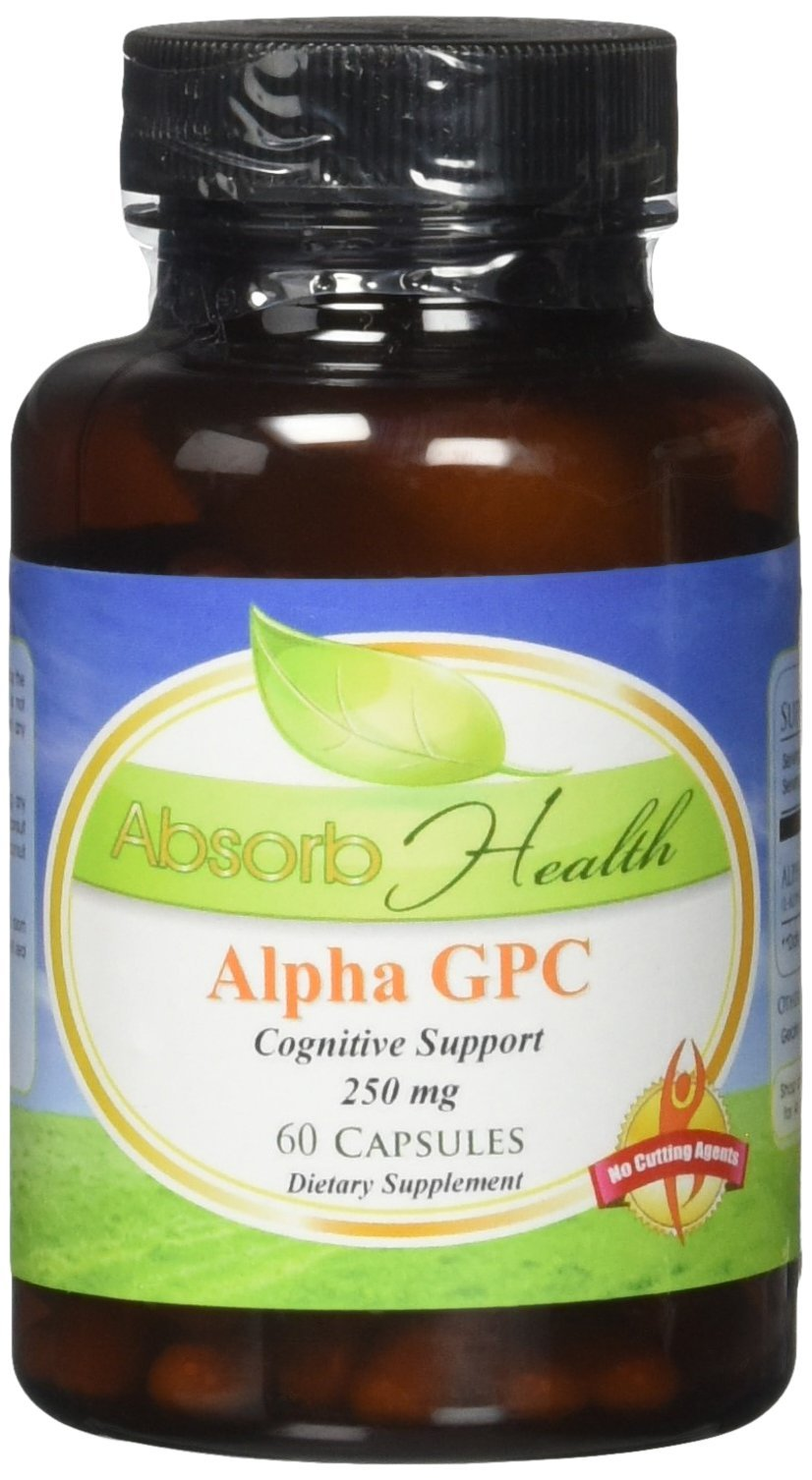 Absorb Health Alpha Gpc 250mg Capsules, 60 Count