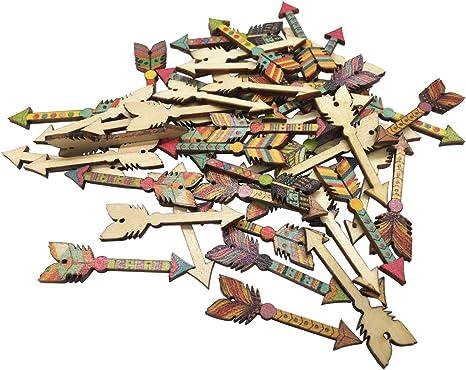 craft art Sewing 15mm 10 wooden Assorted Tree Design Buttons