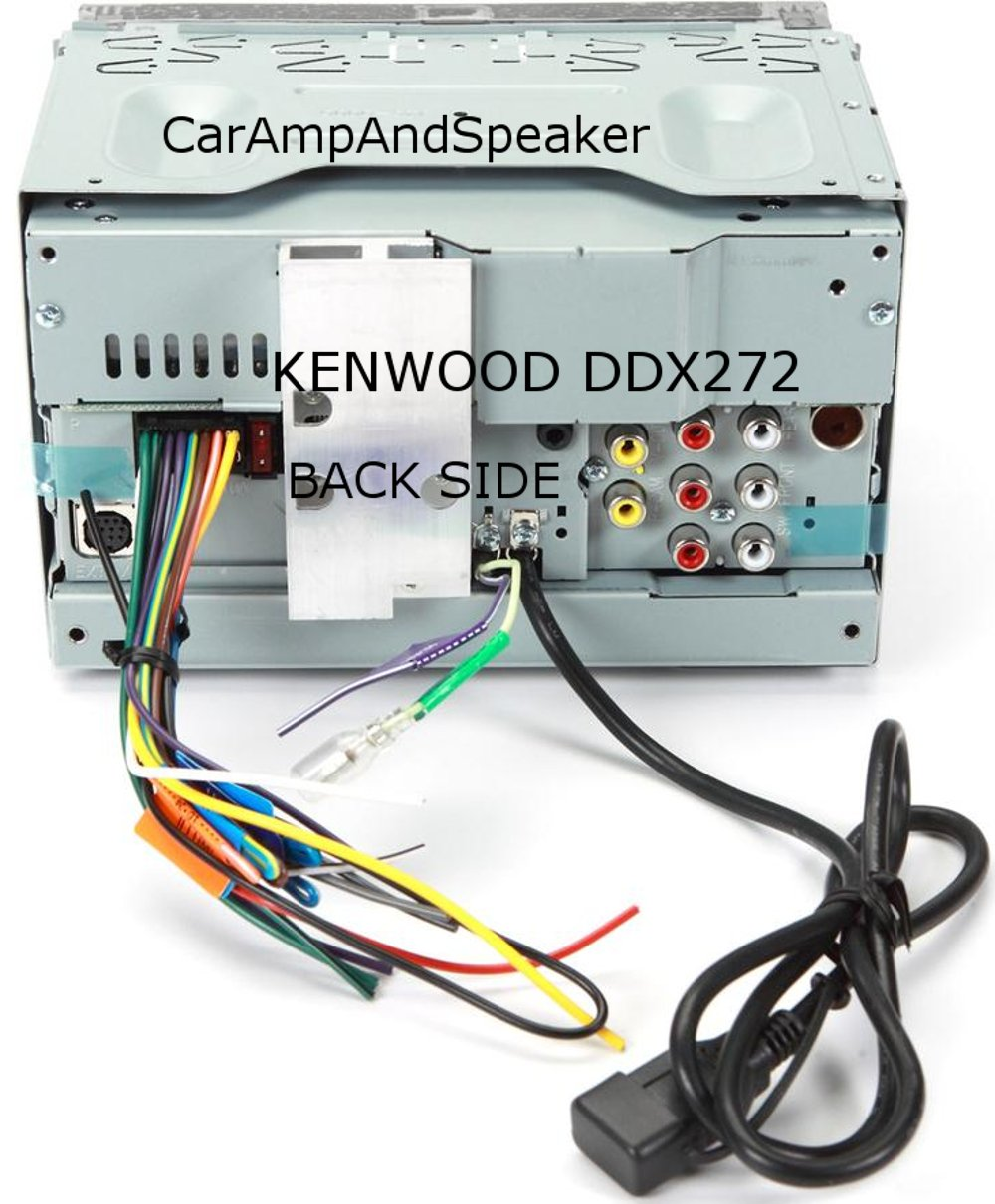71kbbUrBV%2BL._SL1211_ amazon com kenwood ddx272 dvd receiver car electronics kenwood ddx372bt wiring diagram at crackthecode.co