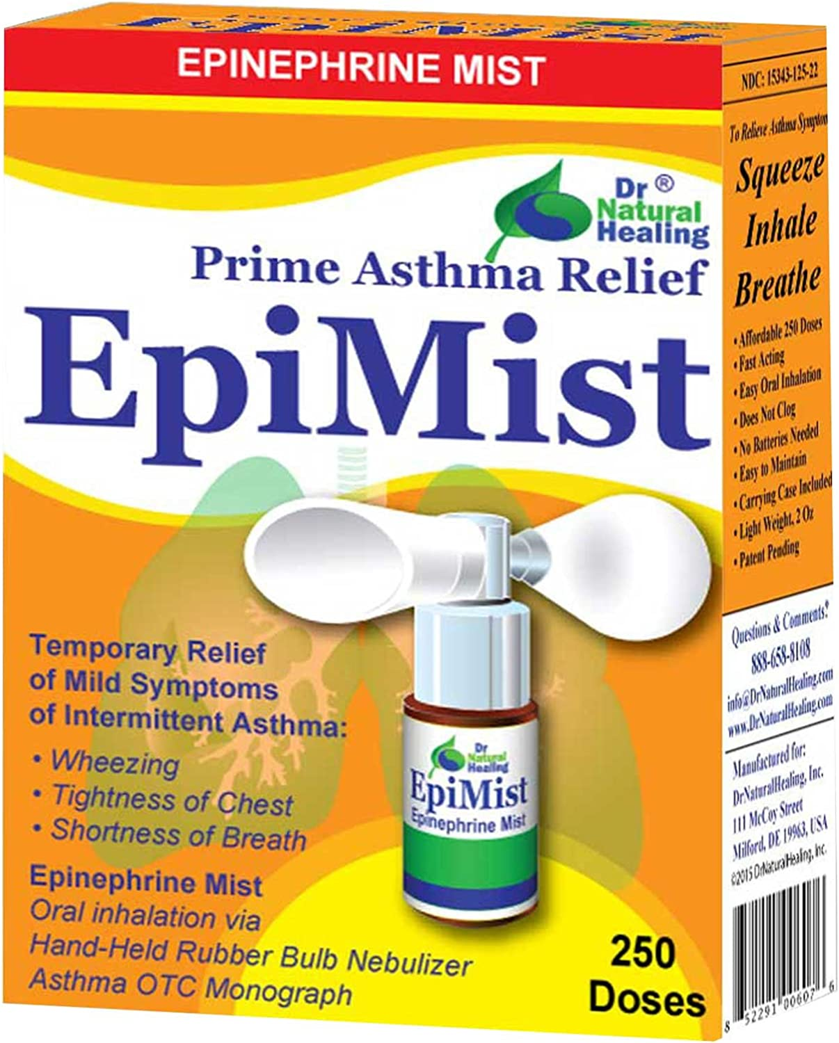 Amazon Com Epinephrine Mist For Asthma Otc 250 Inhalations