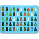 Bigear Silicone Mini Gummy Bear Molds for Chocolate & Candy Making,Non-stick Silicone Ice Cube Tray with a 5ml Pipette,Makes 50 Mini Gummy Candy Bears or Healthy Sugar