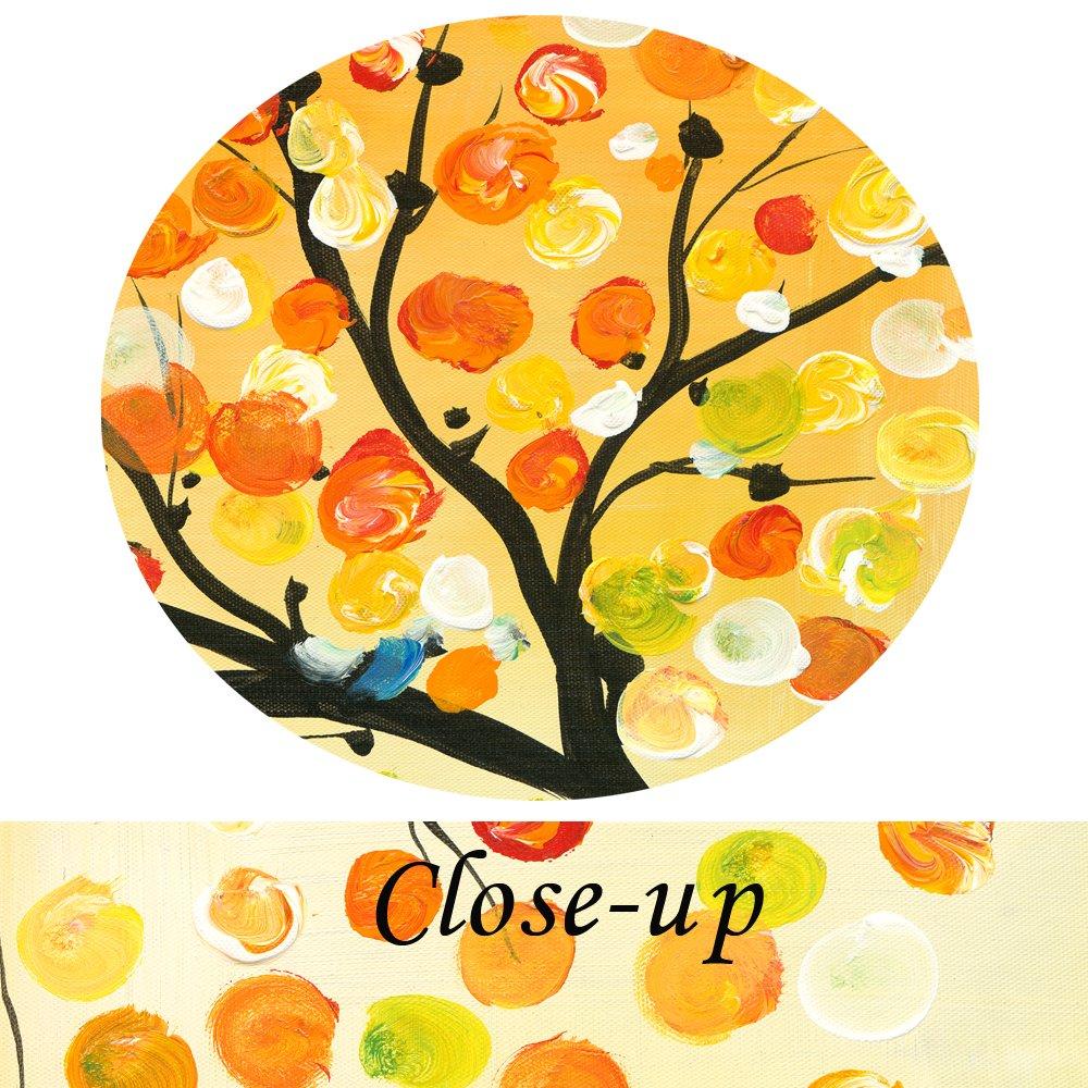 Amazon.com: Kreative Arts - 4 Seasons Colorful Lucky Tree Painting ...