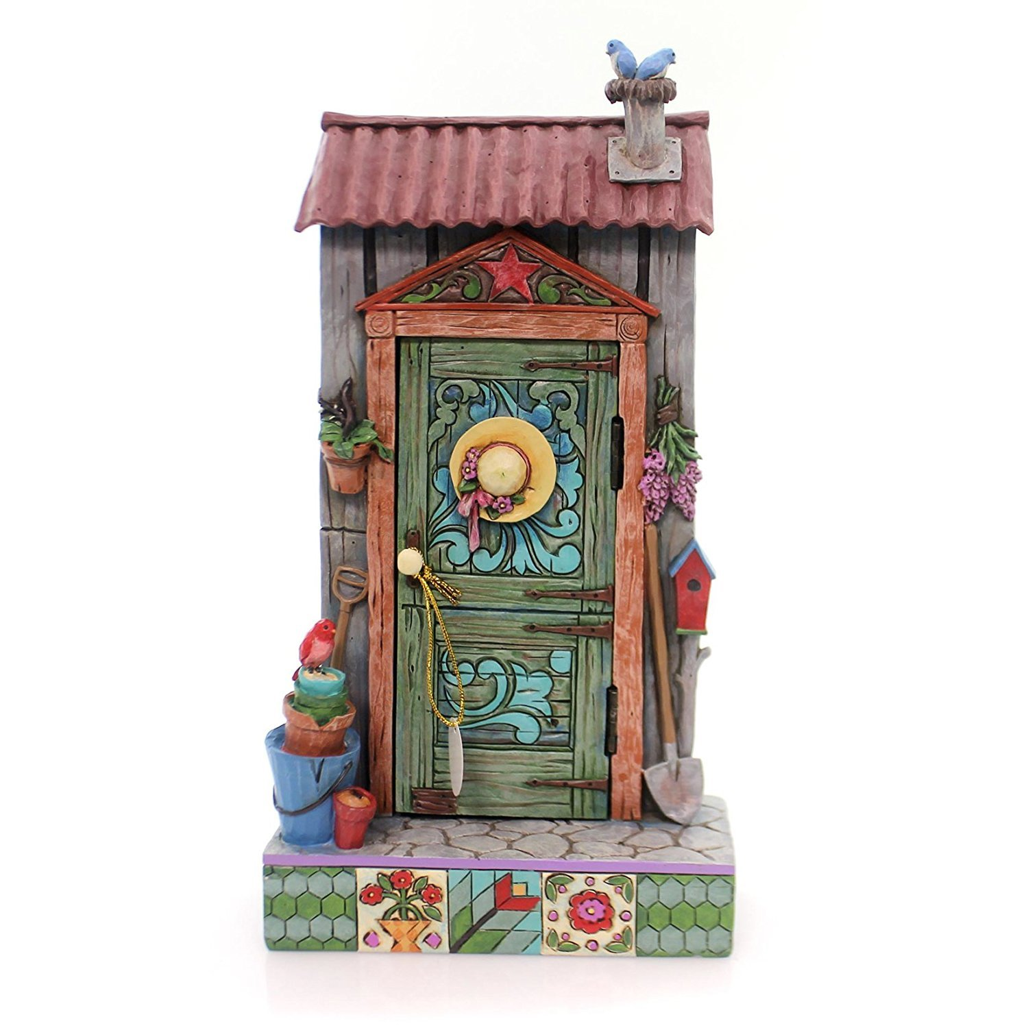 Jim Shore HWC by Enesco Potters Shed Door with Garden Scene 4057691 by Jim Shore