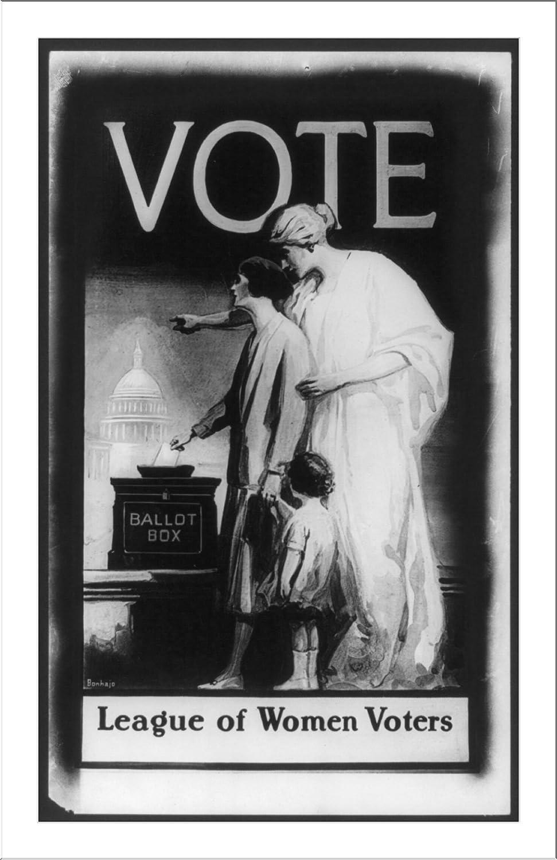 Vote Ballot Box League of Women Voters USA Politics Vintage Poster Repro FREE SH