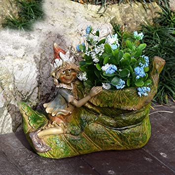 Jardín Al Aire Libre Creative Lawn Clown Shoes Garden Landscape Fleshy Flower Pot Decoration- (A B) B:30 * 25 * 21cm: Amazon.es: Bricolaje y herramientas