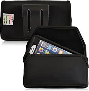 product image for Turtleback Phone Holster Pouch Case for iPhone 6 6S (4.7 in) with OB, Black Leather (Black Belt Loop) - Made in USA