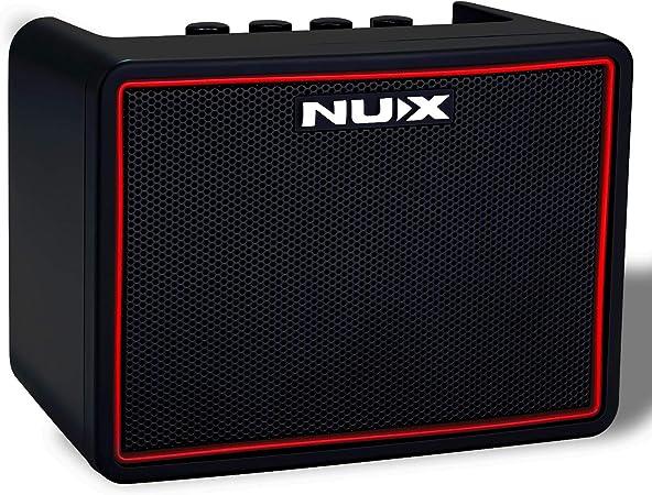 NUX Mighty Lite Amplificador de Guitarra Eléctrica 3W Portátil Bluetooth Bajo Combo Altavoz de Batería Eléctrica, Amplificador con Batería Incorporada ...