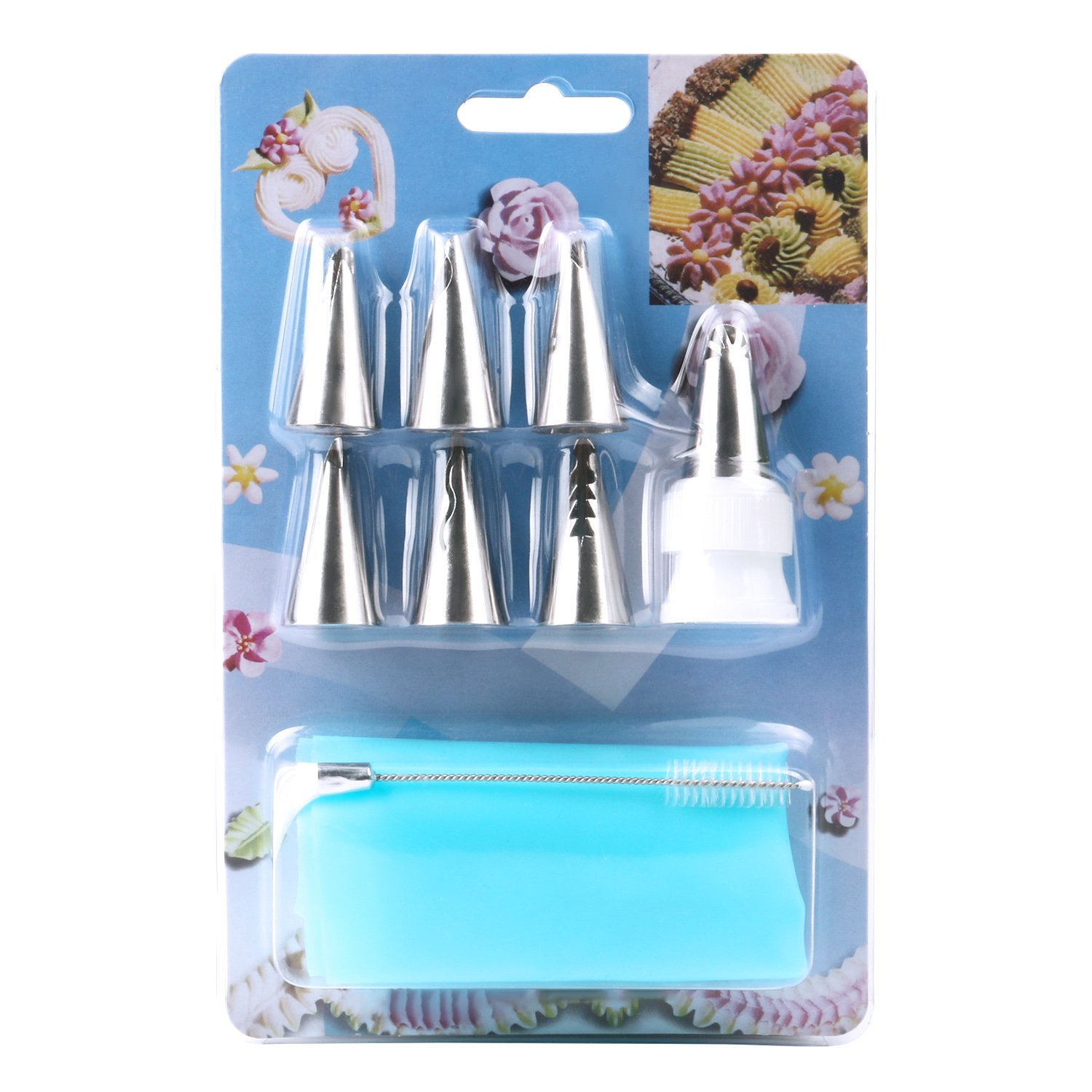 Amazon Piping Tips MCIRCO 7 piece Cake Decorating Tips Icing