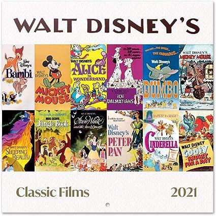 ERIK Calendario de pared 2021 Películas Clásicas Disney, 30x30 cm: Amazon.es: Oficina y papelería