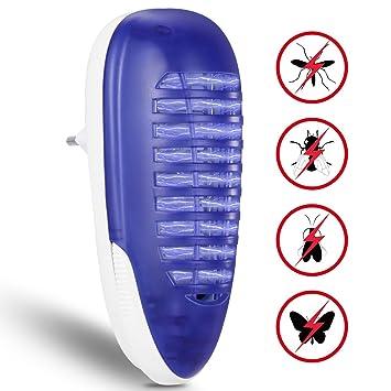 YUNLIGHTS Lámpara Antimosquitos, Eléctrico Mata Moscas, 4W Trampa para Mosquitos para los Hogares, Patios, Jardines, Oficinas, Tiendas: Amazon.es: Jardín