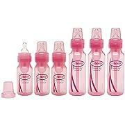 Dr. Brown's 4oz & 8oz Baby Bottle Set, Pink