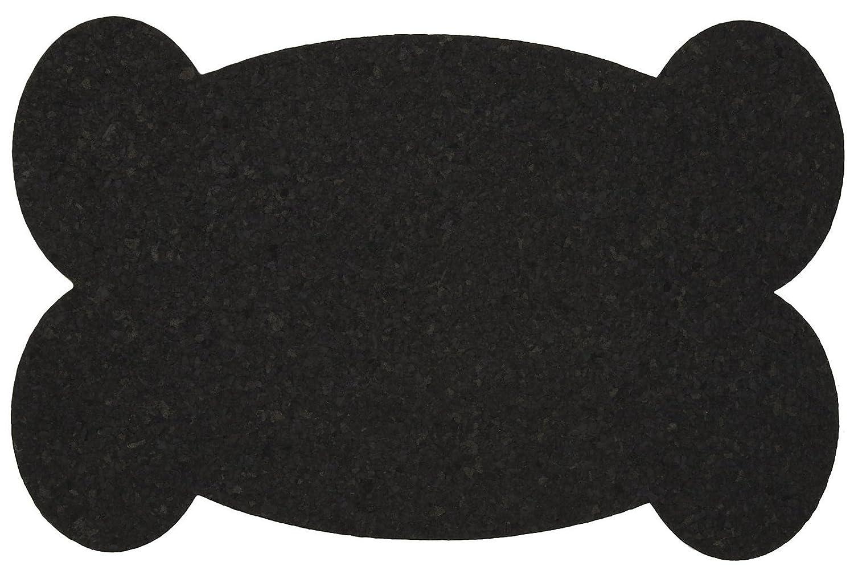 ORE Pet Recycled Rubber Pet Placemat Big Bone Black