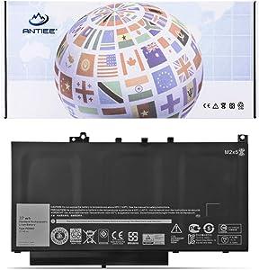ANTIEE 37Wh 3-Cell PDNM2 Laptop Battery for Dell Latitude 12 E7270 P26S001 E7470 P61G001 Series Ultrabook Notebook 579TY F1KTM 0F1KTM V6VMN 0V6VMN