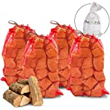 The Chemical Hut 40kg Quality Seasoned Dried Softwood Logs for Firewood, Pits, Open Fire & Stoves. - Comes with THE LOG HUT® Woven Sack.