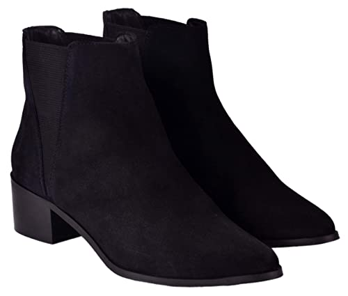 ankle length black boots