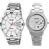 AXE style Analogue White Dial Unisex Watch - C007(Pack of 2)