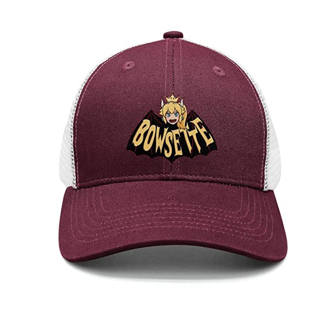 2023d65cc hoppobabo Bowsette-5-Cute Plain Sports Baseball Hats Caps Snapbacks for Men  Women
