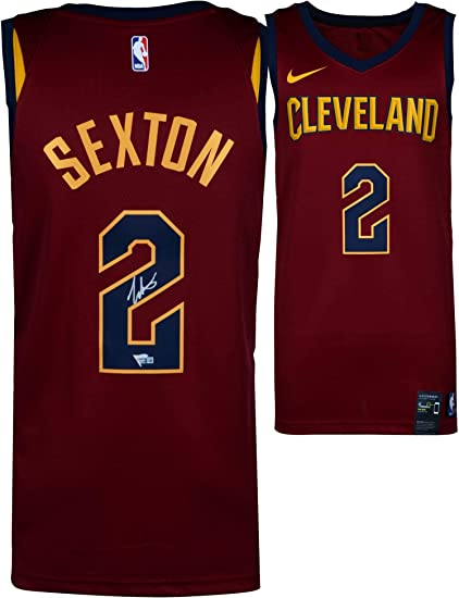 new product bb2b6 50650 Collin Sexton Cleveland Cavaliers Autographed Nike Red Swingman Jersey -  Fanatics Authentic Certified at Amazon s Sports Collectibles Store