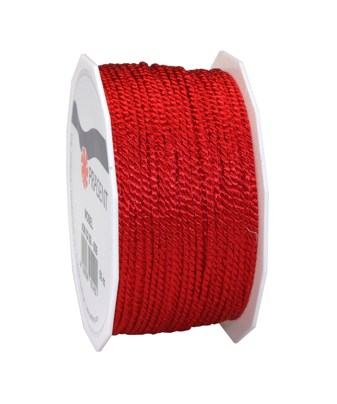 Morex Ribbon 43602/50-609 Polyester Mosel Twisted Cord, 1/16'' x 55 yd, Red